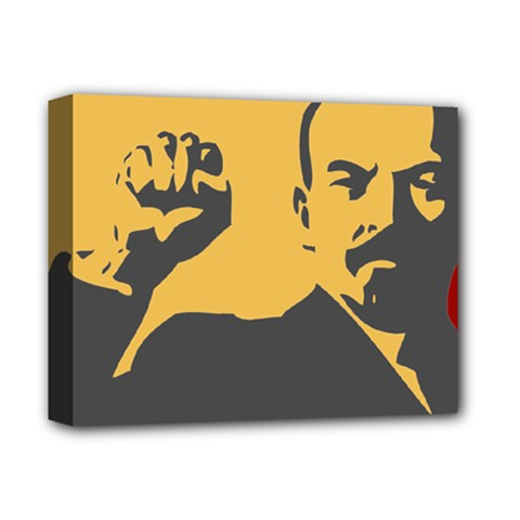 POWER WITH LENIN Deluxe Canvas 14  x 11  (Framed)
