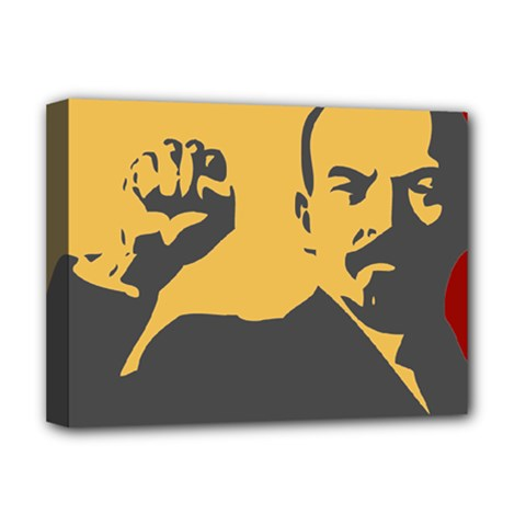POWER WITH LENIN Deluxe Canvas 16  x 12  (Framed)