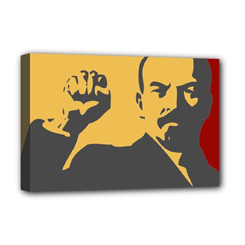 Power With Lenin Deluxe Canvas 18  X 12  (framed)