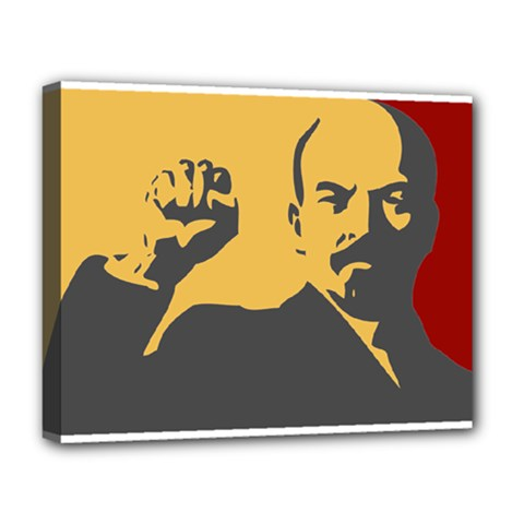Power With Lenin Deluxe Canvas 20  X 16  (framed)
