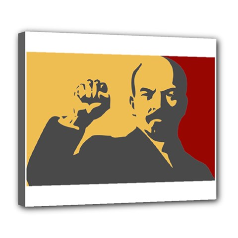Power With Lenin Deluxe Canvas 24  X 20  (framed)