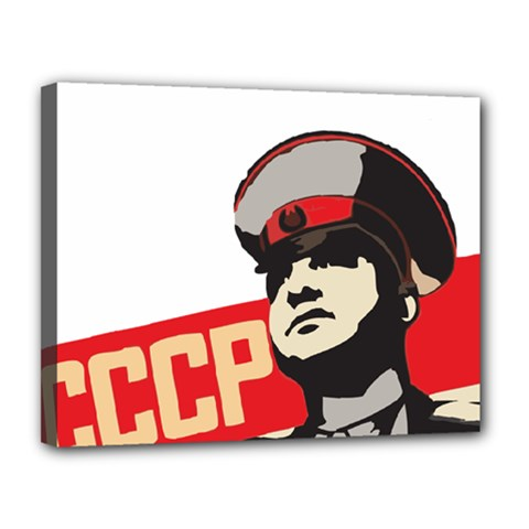 Soviet Red Army Canvas 14  x 11  (Framed)