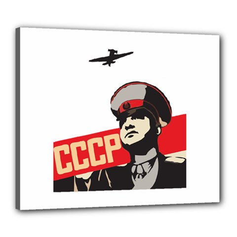 Soviet Red Army Canvas 24  x 20  (Framed)