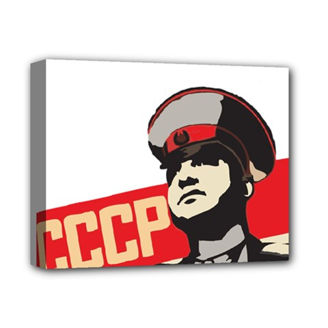 Soviet Red Army Deluxe Canvas 14  X 11  (framed)