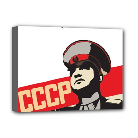 Soviet Red Army Deluxe Canvas 16  x 12  (Framed)
