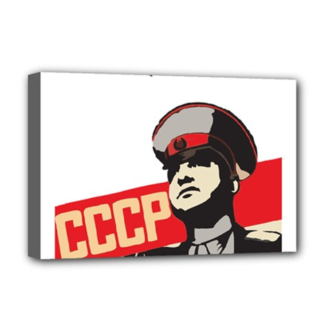 Soviet Red Army Deluxe Canvas 18  x 12  (Framed)