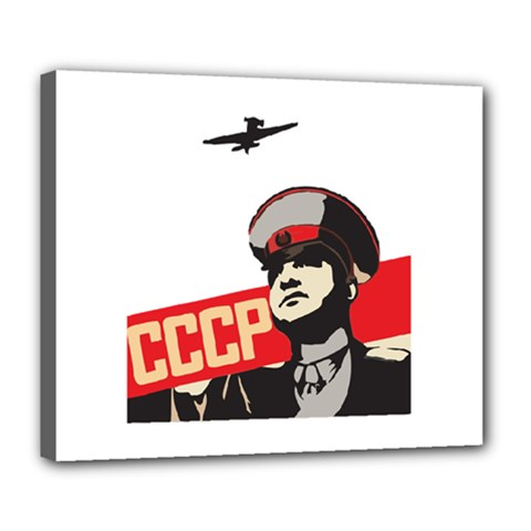 Soviet Red Army Deluxe Canvas 24  x 20  (Framed)