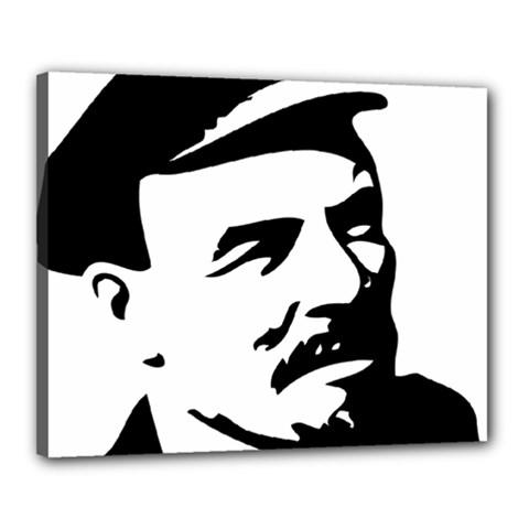 Lenin Portret Canvas 20  x 16  (Framed)