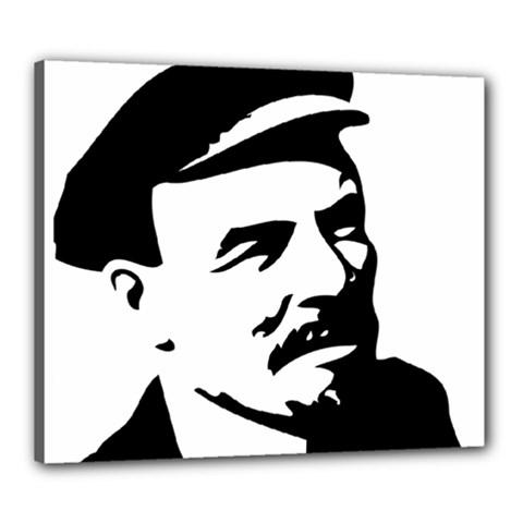 Lenin Portret Canvas 24  x 20  (Framed)
