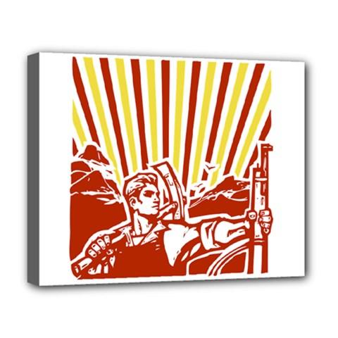 Octobe Revolution Deluxe Canvas 20  X 16  (framed)
