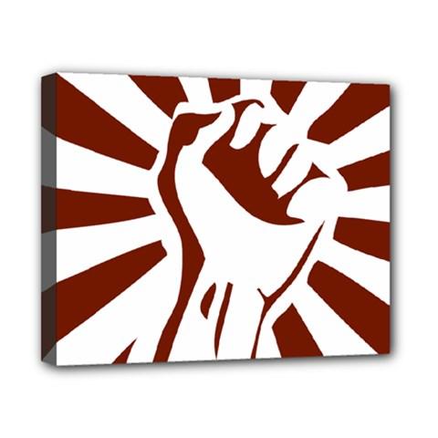 Fist Power Canvas 10  x 8  (Framed)