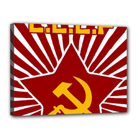 hammer and sickle cccp Canvas 16  x 12  (Stretched)