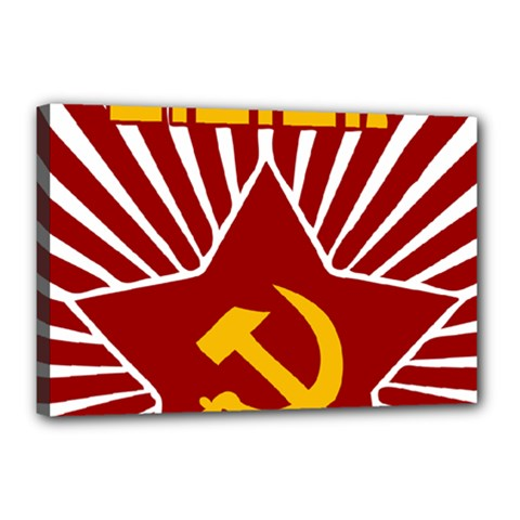 hammer and sickle cccp Canvas 18  x 12  (Stretched)