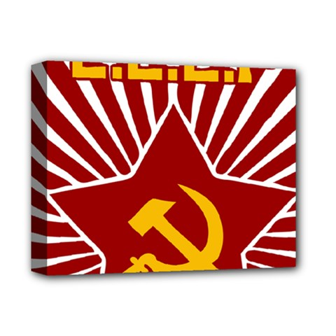 hammer and sickle cccp Deluxe Canvas 14  x 11  (Stretched)