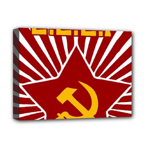 Hammer And Sickle Cccp Deluxe Canvas 16  X 12  (stretched)