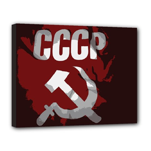 Cccp Soviet union flag Canvas 14  x 11  (Stretched)