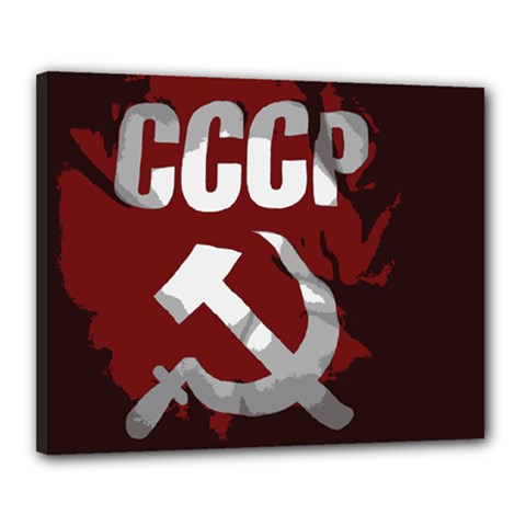 Cccp Soviet union flag Canvas 20  x 16  (Stretched)