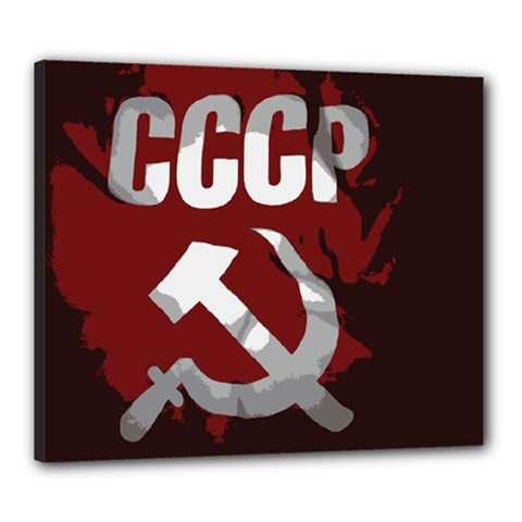 Cccp Soviet union flag Canvas 24  x 20  (Stretched)