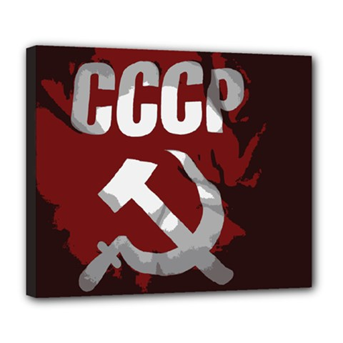 Cccp Soviet union flag Deluxe Canvas 24  x 20  (Stretched)