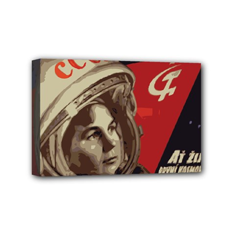 Soviet Union In Space Mini Canvas 6  x 4  (Framed)