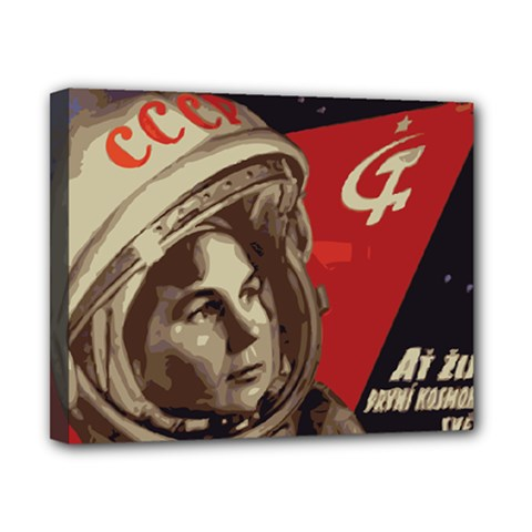 Soviet Union In Space Canvas 10  x 8  (Framed)