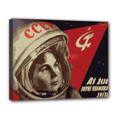 Soviet Union In Space Canvas 14  x 11  (Framed)