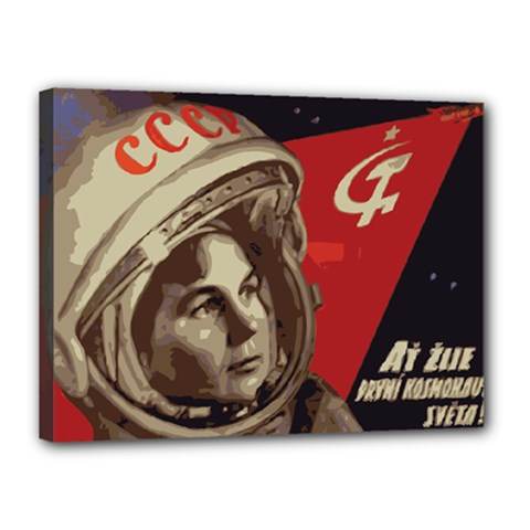 Soviet Union In Space Canvas 16  x 12  (Framed)