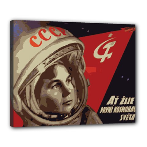 Soviet Union In Space Canvas 20  x 16  (Framed)