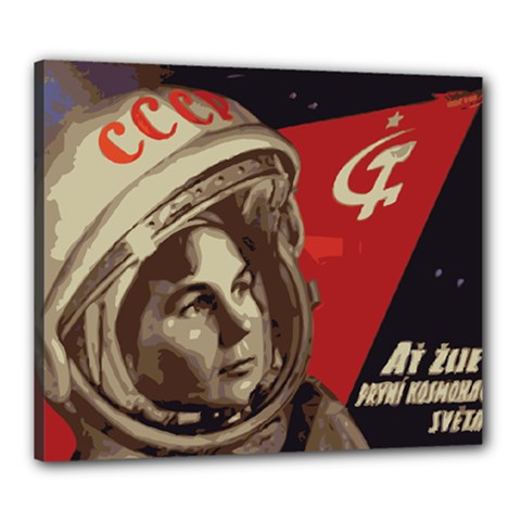 Soviet Union In Space Canvas 24  x 20  (Framed)