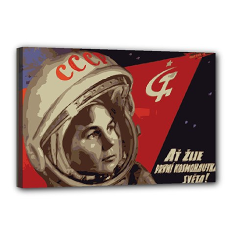 Soviet Union In Space Canvas 18  x 12  (Framed)