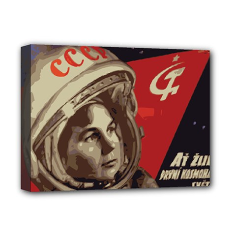 Soviet Union In Space Deluxe Canvas 16  X 12  (framed)