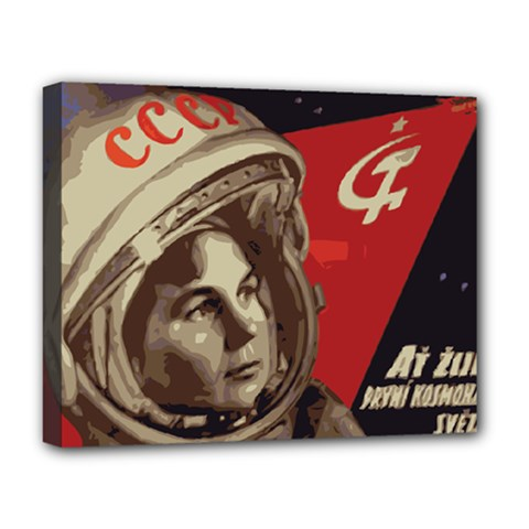 Soviet Union In Space Deluxe Canvas 20  x 16  (Framed)