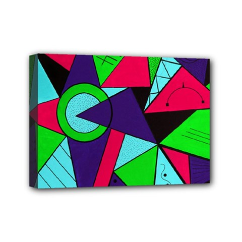 Modern Art Mini Canvas 7  X 5  (framed)