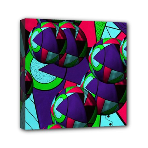 Balls Mini Canvas 6  x 6  (Framed)