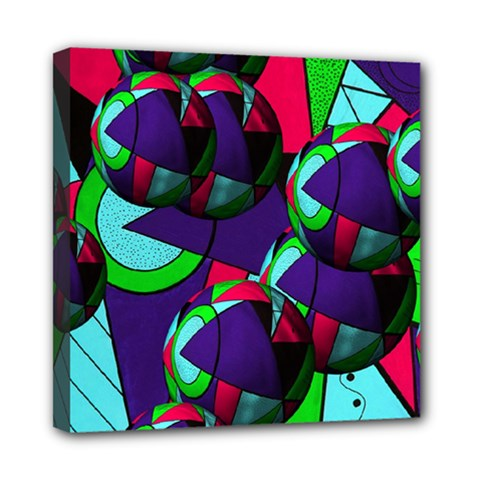 Balls Mini Canvas 8  X 8  (framed)