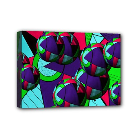 Balls Mini Canvas 7  X 5  (framed)