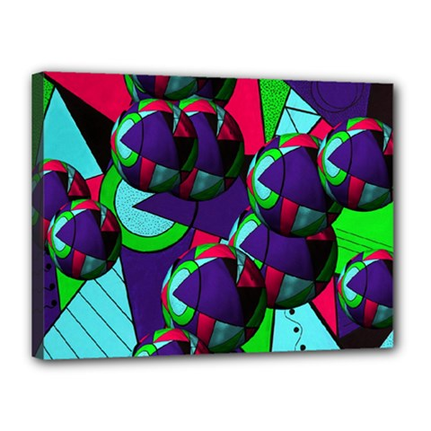 Balls Canvas 16  X 12  (framed)