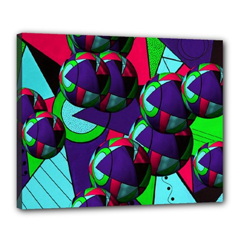 Balls Canvas 20  X 16  (framed)