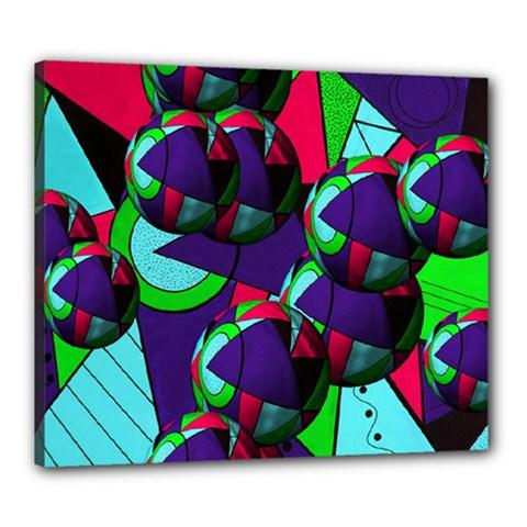 Balls Canvas 24  x 20  (Framed)