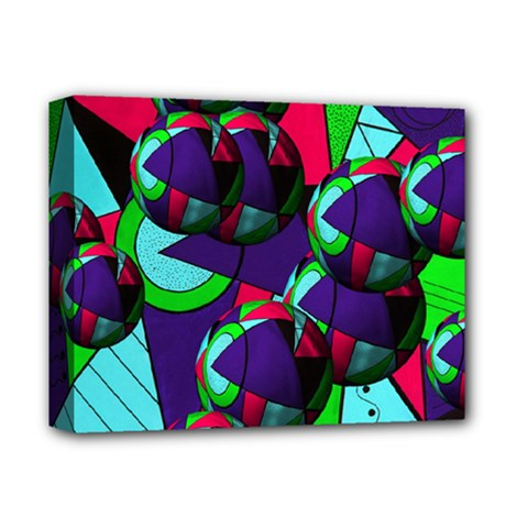 Balls Deluxe Canvas 14  x 11  (Framed)
