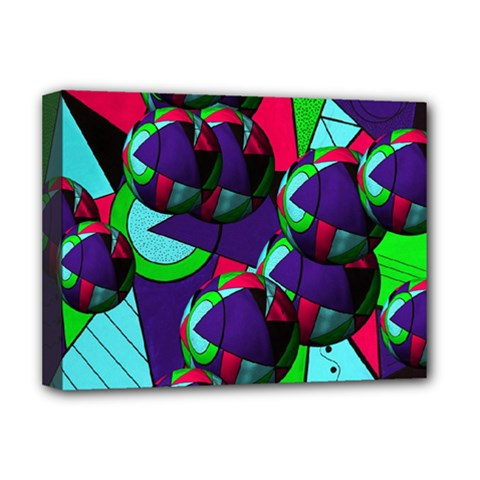 Balls Deluxe Canvas 16  X 12  (framed)