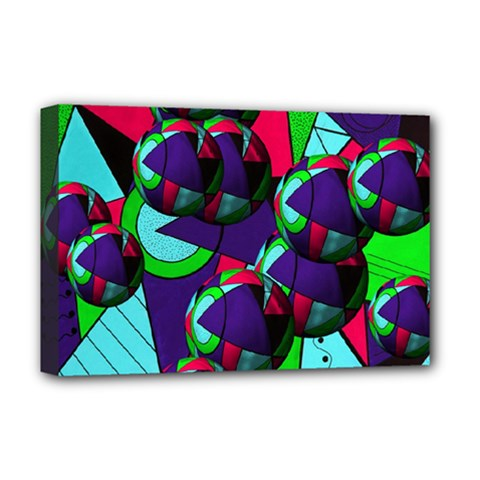 Balls Deluxe Canvas 18  x 12  (Framed)