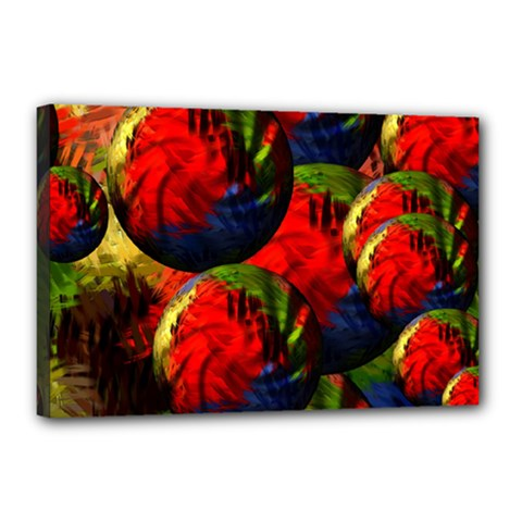 Balls Canvas 18  x 12  (Framed)