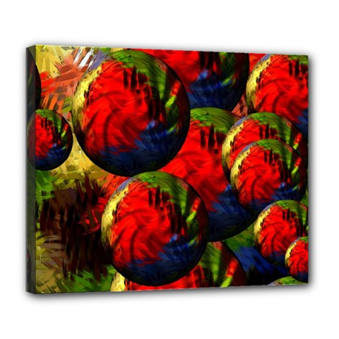 Balls Deluxe Canvas 24  x 20  (Framed)