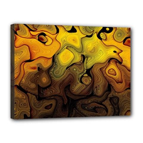 Modern Art Canvas 16  x 12  (Framed)