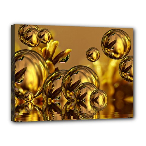 Magic Balls Canvas 16  X 12  (framed)