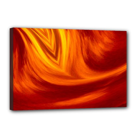 Wave Canvas 18  x 12  (Framed)