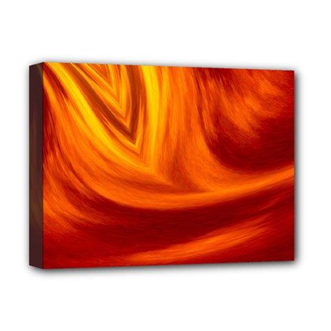 Wave Deluxe Canvas 16  x 12  (Framed)