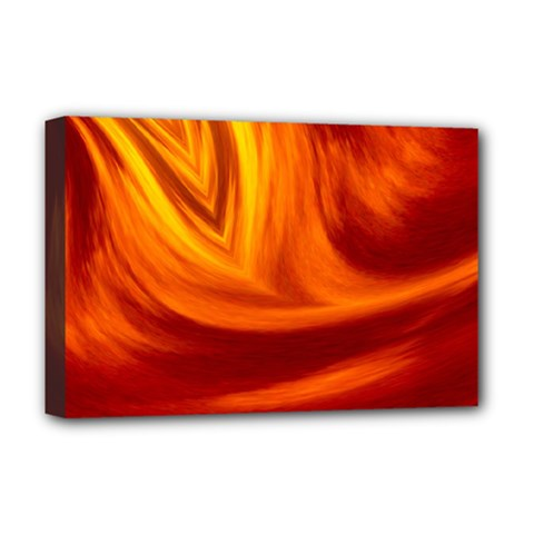 Wave Deluxe Canvas 18  x 12  (Framed)