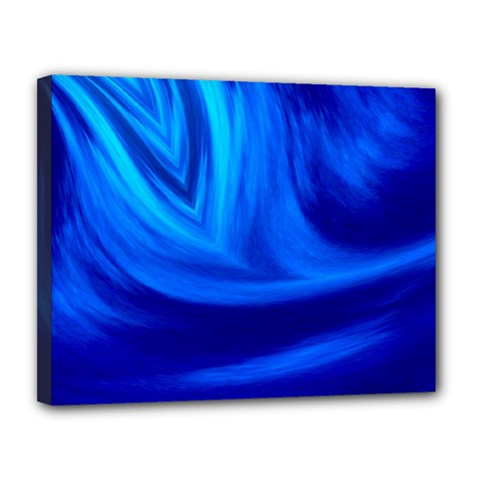 Wave Canvas 14  x 11  (Framed)